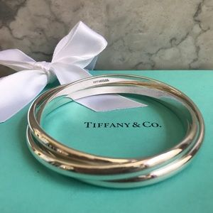 Tiffany & Co Triple Interlocking Bangle Bracelet